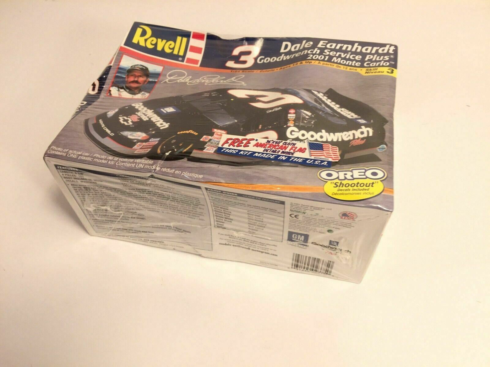 Revell Dale Earnhardt Goodwrench Monte Carlo Vintage 1:24 Scale Model Made USA