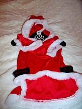 "NEW L DOG SANTA CLAUS COSTUME Christmas Holiday 14"" NECK   16"" LENGTH  D... - $8.79"