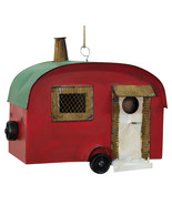 Metal Vintage style Camper Birdhouse Garden Wildlife Outdoor  - £46.88 GBP