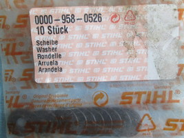 0000 958 0526, Stihl, Washer for HS 45 Hedge Trimmer, Quantity=10 - $7.29