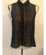 PAPAYA Women's Sleeveless Top, Sheer Mesh, black, polyester, Size S - $1.49