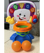 Fisher Price Laugh and Learn Adjustable Basketball Hoop: Includes 2 Ball... - $23.76