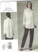 Vogue 1215 Chado Ralph Rucci Office Zoom Shirt Blouse & Pants Pattern Size 8 10  - $21.33