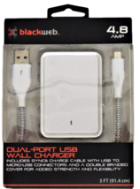 Blackweb Dual-Port USB Wall Charger in White