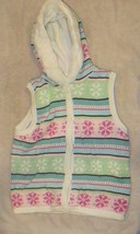 NWT Gymboree Winter Ballerina Snowflake Sweater Hooded Vest Size L 10-12 Large - $36.33