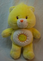 "Care Bears TALKING YELLOW FUNSHINE BEAR 13"" Plush Stuffed Animal 2004 - $24.74"
