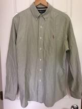 Ralph Lauren Classic Fit Long sleeve men's shirt 100% cotton Green Large - $15.25