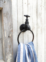 Faucet Towel Holder, Farmhouse Home Decor, Rustic Home, Towel Holder - $17.00