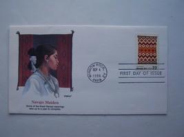 """Navajo Art"" Navajo Maiden Stamp First Day Cover 1986 Window Rock AZ - $5.73"