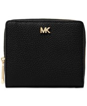 NWT Michael Kors Zip Around Snap Wallet / Black - £52.00 GBP