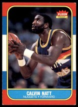 1986-87 Fleer Basketball Premier Calvin Natt Denver Nuggets #79 - $0.50