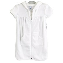 Old Navy White Terrry Cloth Hooded Swim Coverup Kids Sz 3T - $14.00