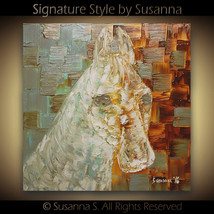 Horse Painting Original Palette Knife Textured Fine Art by Susanna 20x20... - $345.00
