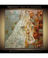 Horse Painting Original Palette Knife Textured Fine Art by Susanna 20x20... - $345.00