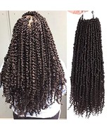 2 Packs Pre-twisted Spring Twists Synthetic Crochet Braids Hair 18 inch ... - $16.31
