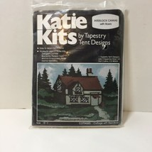 Cottage with Red Roof Needlepoint Kit Katie Kits Tapestry Tent Designs 5... - $19.34