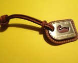 DOONEY and BOURKE Brass Duck and British Tan Leather Hang Tag - FREE SHIPPING