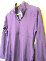 NWT Lola Gorgeous Yoga Athletic Stretch Tunic Top Purple Zip Long Jacket L $138 - $78.00