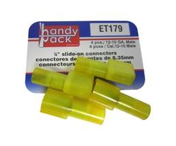 "Standard Handy Pack ET179 12-10 Gauge 1/4"" Slide on Connectors 4 Pcs. New - $16.06"
