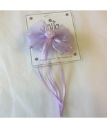 NWT Toddler Satin Chiffon Rose Bud Streamers Pinkish & Lavender Bow East... - $3.75