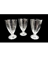 Candlewick Water Tumblers Glasses Vintage Set of 3 Crystal Ball Footed I... - $39.17