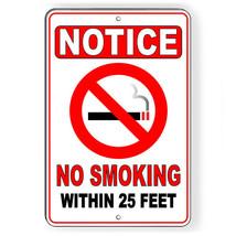 No Smoking Within 25' Metal Sign Or Decal 7 SIZES area vaping warning SN... - $5.83+