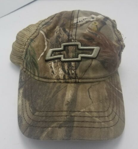 Realtree Chevrolet Hat Cap Strapback Camouflage Hunting Cars Trucks