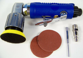 "2"" Mini Orbital 90 Degree Angle Air Sander Tool Hook And Loop With Discs And Pad - $44.99"