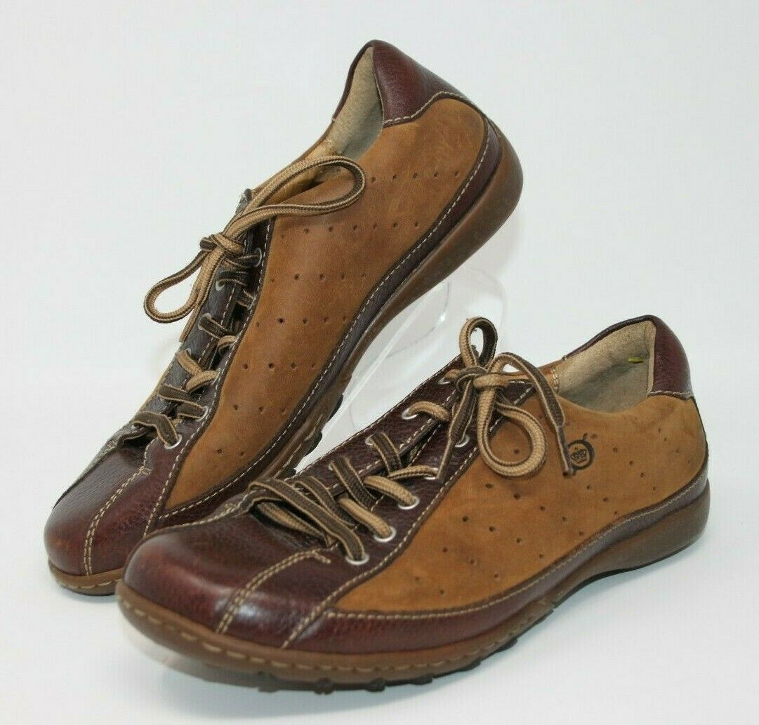 Born Size 8 Women's Lace Up Brown Oxford Shoes Style W0578 Walking Shoes Leather