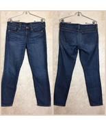 J. Crew Womens Jeans Size 28 Toothpick Ankle Blue Denim - $38.22