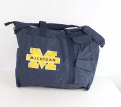 Vintage 90s Michigan Wolverines Spell Out Nylon Multi-Pocket Travel Carr... - $34.60