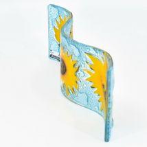 Fused Art Glass Sunflowers Flowers Wavy Decor Sun Catcher Handmade in Ecuador image 4
