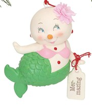 Mermazing Christmas Holiday Ornament Snowpinions Beached Collection - $43.76