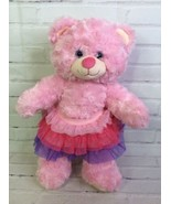 Build a Bear Workshop Retired 16in Pink Plush Stuffed Animal With Sparkl... - $15.83