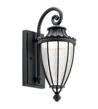 Kichler 49751BKTLED Wakefield Outdoor Wall Sconces 7in Textured Black Aluminum - $269.99