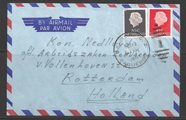 1971 Paquebot cover, Netherlands stamps used in Balboa, Canal Zone - $5.00