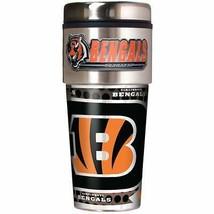NFL Cincinnati Bengals 16oz Travel Tumbler with Metallic Wrap NFL Team M... - $21.77