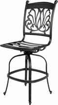 Outdoor Bar Stools Set of 4 Swivels Seat Cast Aluminum Patio Furniture Sunbrella image 2