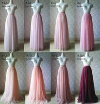 Hot Pink Purple Gray Purple Women Tier Tulle Skirts Mesh Skirt Full Midi Skirts image 13