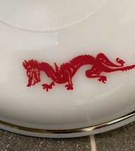 Vintage 50s Fire King Red Dragon 1.5qt casserole with lid image 6