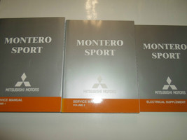2004 Mitsubishi Montero Sport Service Shop Repair Manual Factory Book 04 3V Set - $148.49