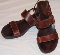 Timberland Sandalias 10M 10M Cuero Marrón Zapatos Mujer - $23.92