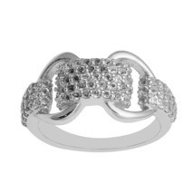 Women Cluster 925 Sterling Silver 0.80 Ct White Topaz Claddagh Crown Ring - $28.30