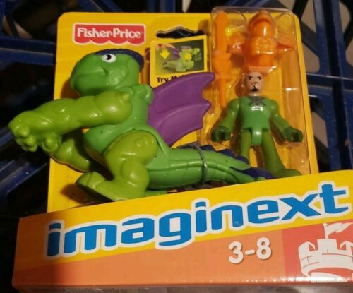 Fisher-Price Imaginext green purple dragon world fortress castle & knight  NEW
