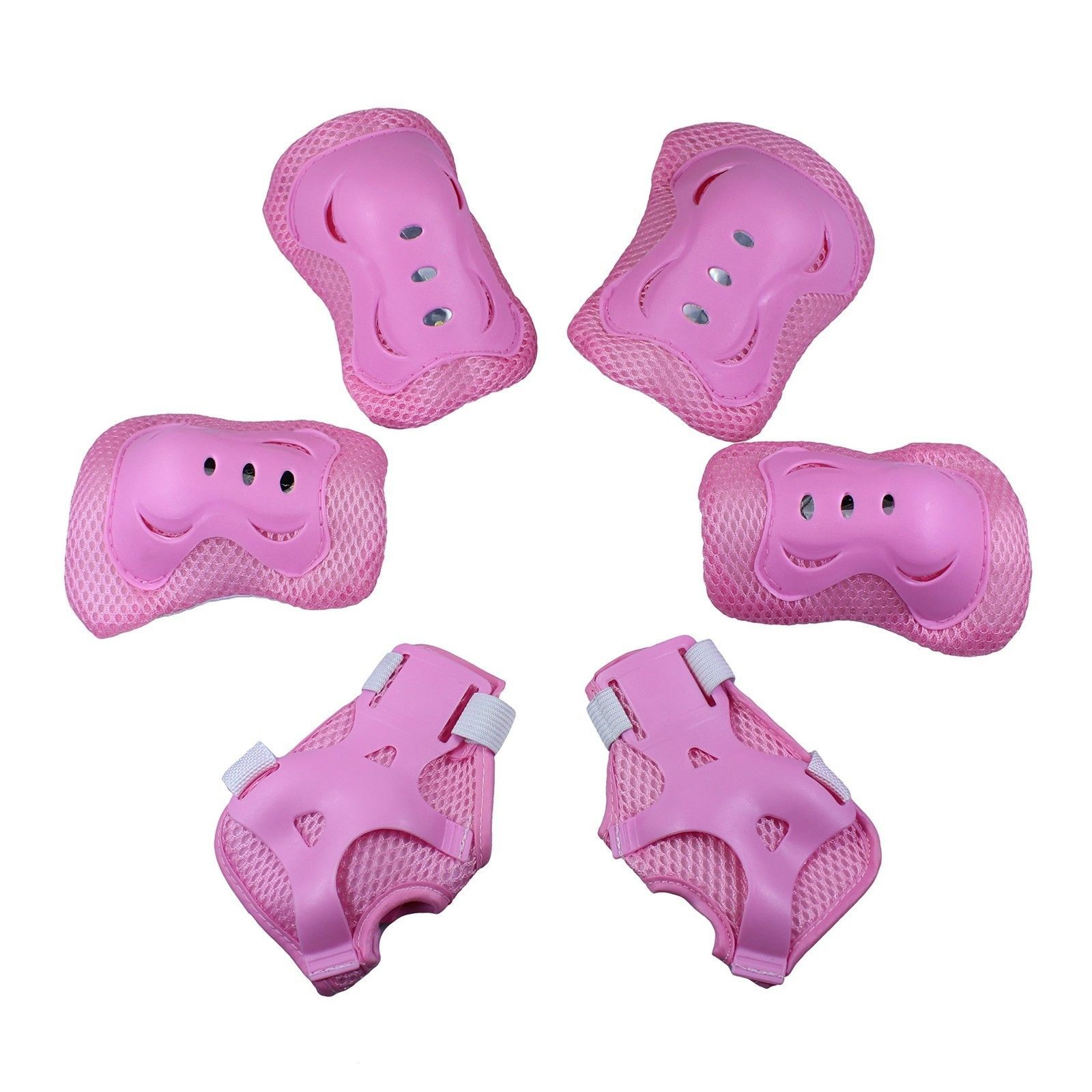 Kid's Adjustable Sports Safety Protective Gear Set Children Knee Pads Pink