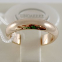 SOLID 18K YELLOW GOLD WEDDING BAND UNOAERRE RING 7 GRAMS MARRIAGE MADE IN ITALY image 1