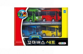 Tayo Special Pull Back Little Small Mini Toy Bus Car Vehicle 4 Pieces Set