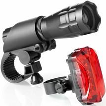 NEW LED Bicycle Bike Night Light Headlight TailLight Combo 200 Lumen Lig... - $32.02