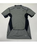 Nike Pro Combat  Dri-Fit men's large gray short sleeve Compression athle... - $18.71