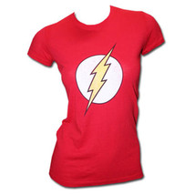 The Flash Logo Juniors Graphic T-Shirt Red - $28.98